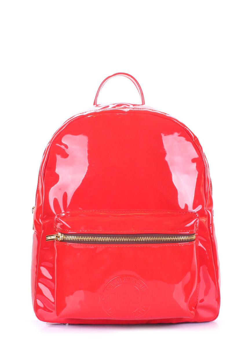 a7be48cbadea Рюкзак женский POOLPARTY Mini красный лак - Интернет-магазин