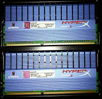 Скоростная Kingston HyperX DDR3 8Gb (2Gb x4) PC2-14900 1866MHz
