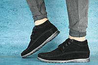 Мужские зимние ботинки VanKristi (черный), ТОП-реплика, фото 1