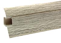 Плинтус для пола с кабель-каналом  Дуб Северный