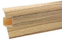 Плинтус для пола с кабель-каналом 54 мм  Клен