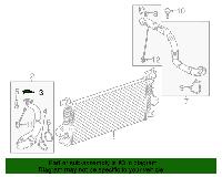 Прокладка шланга (трубки, патрубка) промежуточного охладителя (интеркулера) впускного (от турбины к интеркулер