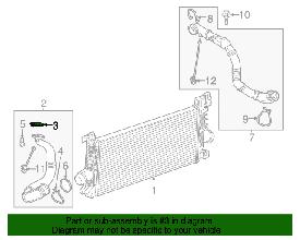 Прокладка патрубка интеркулера GM 13247992 A20DT OPEL Insignia Astra-J Zafira-C