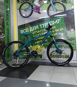 "Велосипед 26"" Ghost RH38 4-X COMP 2014 blue/black/lime green 14DX2751"