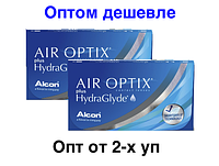Контактные линзы Air Optix plus HydraGlyde 1уп (3 линзы)