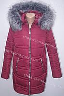 Очень теплая зимняя куртка на синтепоне с мехом