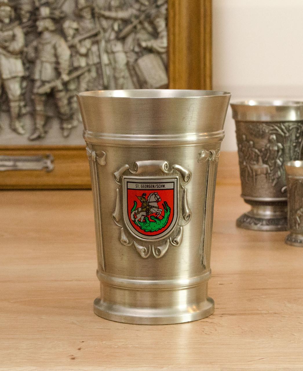 Коллекционный оловянный бокал, олово, Германия, 300 мл