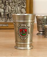 Коллекционный оловянный бокал, олово, Германия, 300 мл, фото 1