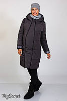 Теплое зимнее пальто Angie для беременных, серое