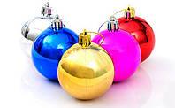 Елочные Новогодние Шары 4 см Украшение на Елку в Наборе 6 шт