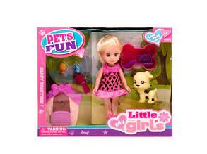 Лялька Little girls з домашнім улюбленцем