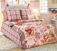 Постельное белье для малышей в кроватку бязь Плюшевые мишки розовый