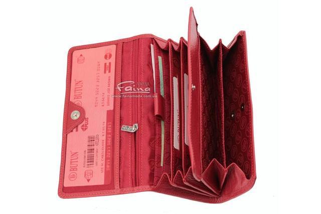 Женский кожаный кошелек красный  Butun  универсальная модель