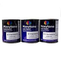 Авто краска (автоэмаль) металлик Maxytone 202 черная база под лак 1 л