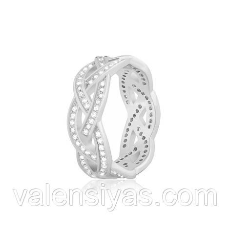 """Серебряное кольцо в стиле """"Tiffany"""" К2Ф/280, фото 2"""