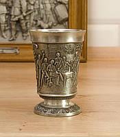 Коллекционный оловянный бокал, олово, Германия, 140 мл, фото 1