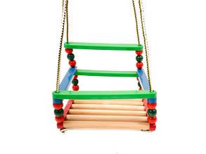 Качель деревянно-пластмассовая Буковая