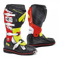 Мотоботинки кроссовые Forma Terrain TX черый / желтый / красный, 44