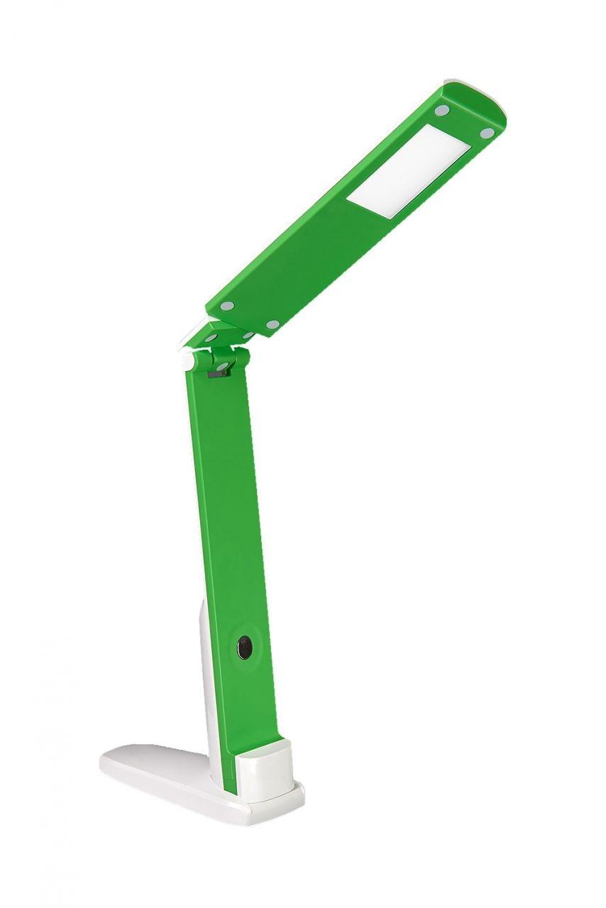 Настольная ЛЕД лампа 5Вт 4100К 400Лм 260х150х300 DELUX TF-310 бело-зеленаяя
