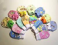 Царапки с рисунком для малыша с начесом