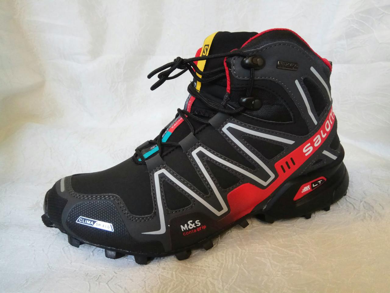 Мужские зимние ботинки Salomon X ULTRA Winter черные с красным - Интернет  магазин krossovkiweb.kiev 492141bf21548