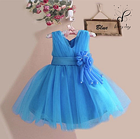 """Вечернее платье для девочек """"Селена"""". В голубом цвете."""