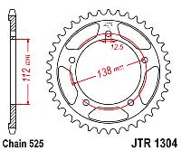 Звезда задняя JT JTR1304.42