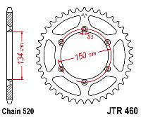 Звезда задняя JT JTR460.46