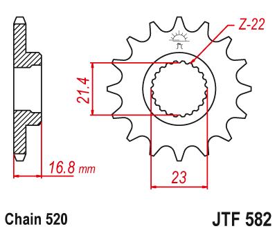 Звезда передняя JT JTF582.16