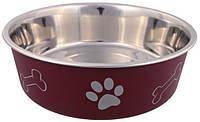 Trixiе (Трикси) Миска металлическая с пластиковым покрытием для собак, 0.4л/ø14см