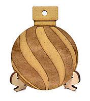 Деревянная новогодняя игрушка заготовка из ДВП. Спиралька