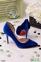 Синие туфли на шпильке, Размер 36
