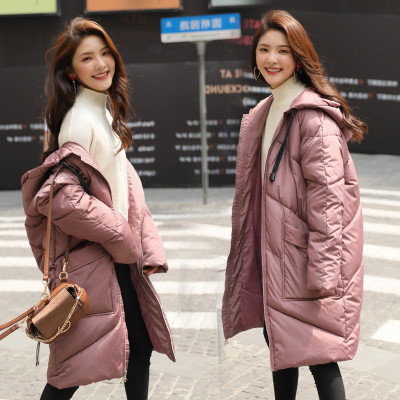 Куртка зимняя женская oversize c капюшоном -208-041
