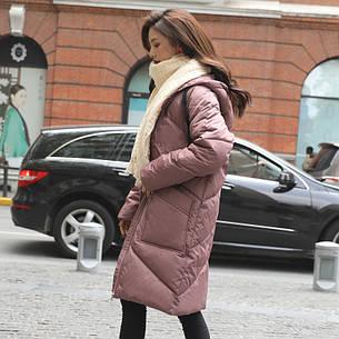 Куртка зимняя женская oversize c капюшоном -208-041, фото 2