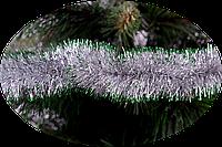 Гирлянда 50 Серебро с зеленым кончиком 2 метра Новогодько