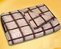 Полушерстяное одеяло Vladi солдатское 140х205 полуторное бежевое