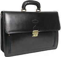 Элегантный мужской портфель из натуральной кожи Rovicky AWR-1 черный