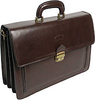 Мужской портфель из качественной натуральной кожи Rovicky AWR-1-2 коричневый