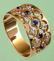 Золотий перстень зі шпінеллю