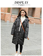 Куртка зимняя женская oversize c капюшоном -208-042