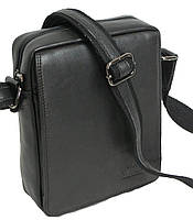 Стильная мужская сумка-планшетка из натуральной кожи Суперс Always Wild 771 NDM черная 18х24х8 см.
