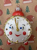 Игрушка часы  для украшения елки, фото 1