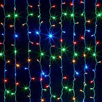 Гирлянда штора 240 led ламп Цветной дождь