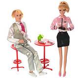 Куклы Семья 29 см и 30 см, столик, посуда, 2 цвета, в коробке, фото 2