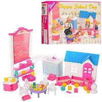 Мебель для кукол детская комната, столик, стулья,паровоз,доска для рисования,в коробке