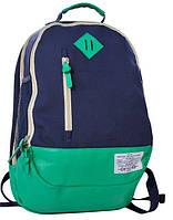 Молодежный коттоновый рюкзак 20 л. PASO 15-5139A синий