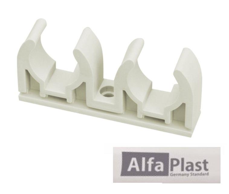 Крепление двойное ППР Alfa Plast 32 мм