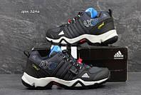 Чоловічі зимові  кросівки  Adidas AX2 (3246) темно сині  з  блакитним