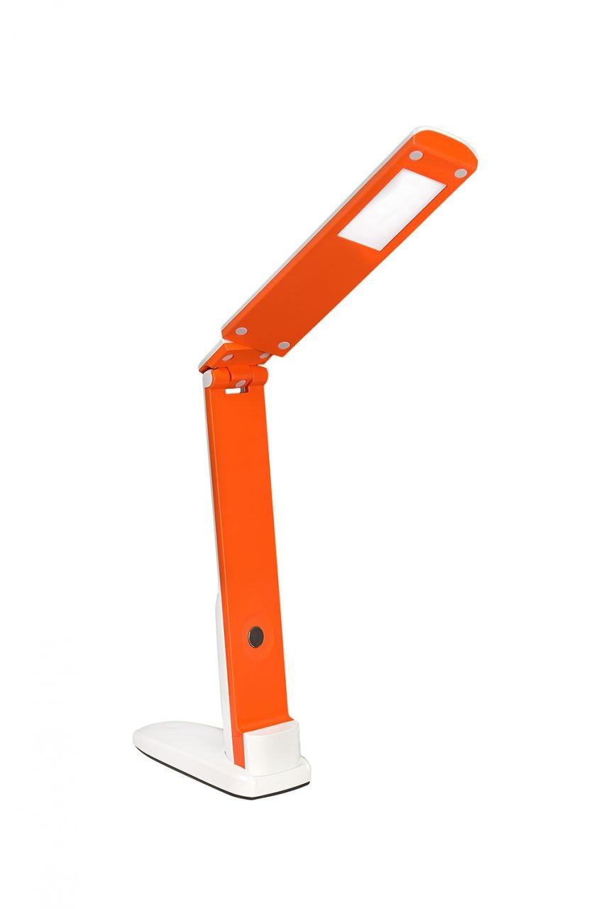 Настольная ЛЕД лампа 5Вт 4100К 400Лм 260х150х300 DELUX TF-310 бело-оранжевая