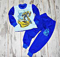 Детская теплая пижама с начесом